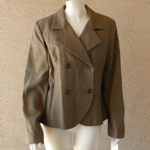 Double Breasted Blazer Jacket Neutral Colors